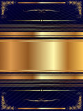 Gold frame with pattern 14 Stock Image