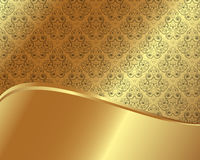 Gold frame with pattern 7 Stock Photography