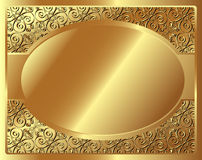 Gold frame with pattern Royalty Free Stock Image