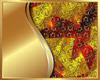 Gold frame with pattern 2 Stock Photos