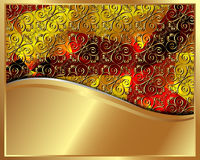 Gold frame with pattern 3 Royalty Free Stock Photography