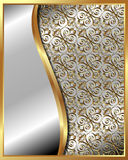 Gold frame with pattern 4 Royalty Free Stock Photo