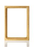 Gold frame for pictures or the photos. Isolated on white royalty free illustration