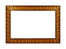 Gold Frame. Rectangular wooden gold frame isolated on a white background Royalty Free Stock Photography