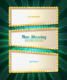 Gold frame retro comic design banner Royalty Free Stock Image