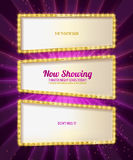 Gold frame retro comic design banner Royalty Free Stock Photography