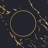 Gold Frame round Minimalism Vector Design Banner Texture marble vector illustration