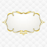 Gold frame with seamless upholstery texture stock illustration