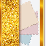 Gold frame with shiny golden borders Stock Photo