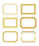 Gold frame simple golden white Stock Photography