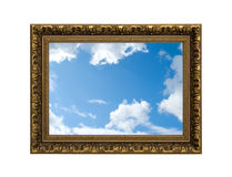 Gold frame / sky Royalty Free Stock Image