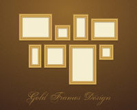Gold Frame for text, picture, photo or your design Royalty Free Stock Images