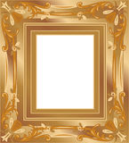 Gold frame vector Royalty Free Stock Image