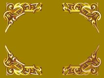 Gold frame in Victorian style. Vector corners for text decoration Vector Illustration