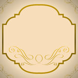 Gold Frame. Vintage decorative gold frame background. Vector illustration stock illustration
