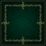 Gold frame with vintage floral elements. Vector background Royalty Free Stock Photography