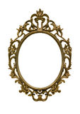 Gold frame. Vintage gold frame isolate background Royalty Free Stock Photography