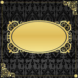 Gold frame in vintage style Royalty Free Stock Images