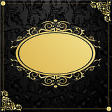 Gold frame in vintage style Royalty Free Stock Photography