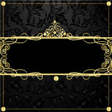 Gold frame in vintage style Stock Photos