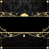 Gold frame in vintage style stock illustration