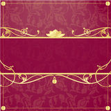 Gold frame in vintage style Royalty Free Stock Photos