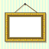 Gold frame on wall Royalty Free Stock Photo