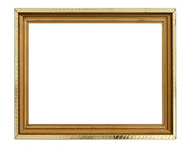 Gold frame on white Royalty Free Stock Photography