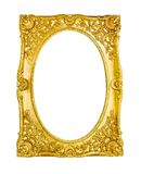 Gold frame on white Stock Images