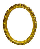 Gold frame on  white Royalty Free Stock Image
