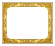 Gold frame on white background Royalty Free Stock Photo