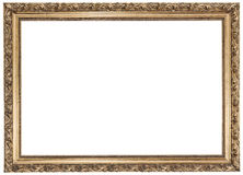 Gold frame on white background Royalty Free Stock Photos