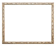 Gold frame on white background Stock Photography