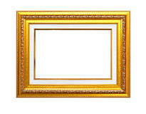 gold frame on the white background with clipping path Stock Images