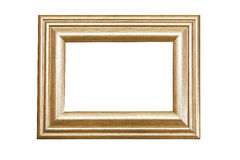 Gold frame. Gold wood frame isolated vintage Royalty Free Stock Photo