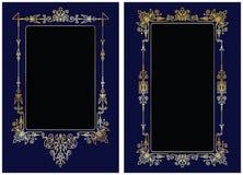 Gold-framed background Stock Images