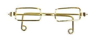 Gold Framed Doll Glasses Royalty Free Stock Image