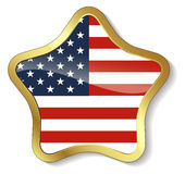 Gold framed Elements for July 4th. Royalty Free Stock Photos