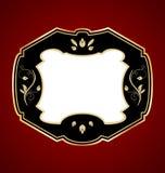 Gold-framed label. Illustration of gold-framed label. Vector Stock Image