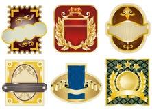 Gold framed labels Stock Images