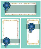 Gold-framed labels. And background on different topics Royalty Free Stock Photography
