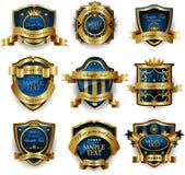 Gold framed labels Royalty Free Stock Image