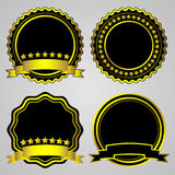Gold-framed labels Royalty Free Stock Images