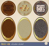 Gold-framed labels Royalty Free Stock Photo