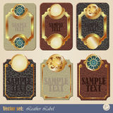 Gold-framed labels Stock Photo