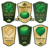 Gold-framed labels on different topics Royalty Free Stock Image