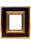 Gold Framed Picture Frame w/ Path Stock Photos