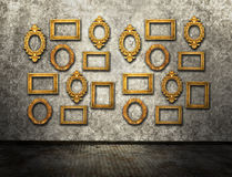 Gold frames stock images