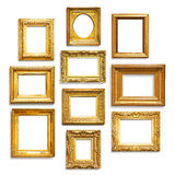 Gold frames Stock Image