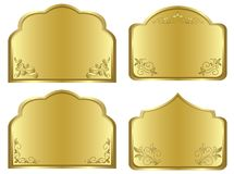 Gold frames with floral decoration - vector set. Gold frames with floral decoration - vector  set Royalty Free Stock Photos
